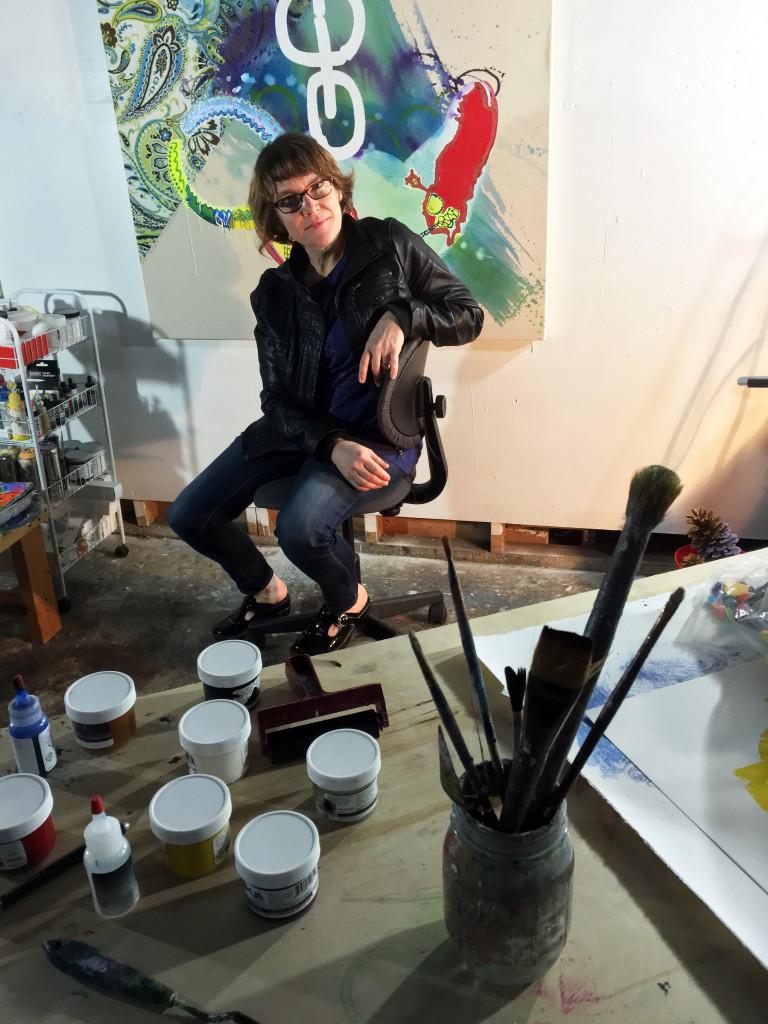 Vivian Liddell in her studio
