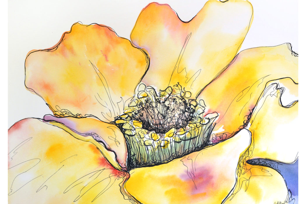 golden_watercolor-and-ink-painting_-atlanta-artist-courtney-khail